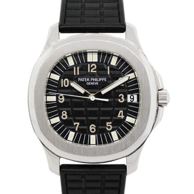 Patek Philippe 5065A Aquanaut Black Dial Stainless Steel on Rubber Strap Watch
