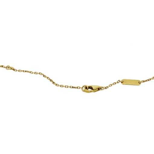 yellow gold van cleef and arpels necklace
