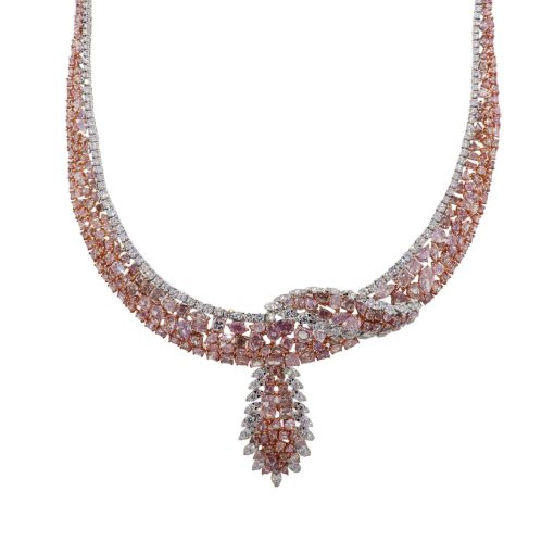 large cluster diamond necklace