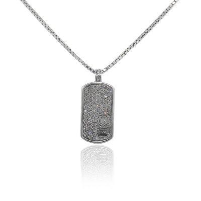 David Yurman 1.12ctw Round Diamond Pave Tag Necklace