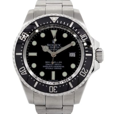 Rolex 116660 Deepsea Sea-Dweller Black Dial Black Ceramic Bezel Stainless Steel Watch
