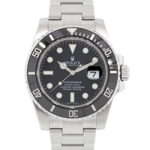Rolex 116610LN Submariner Black Ceramic Bezel and Black Dial Watch