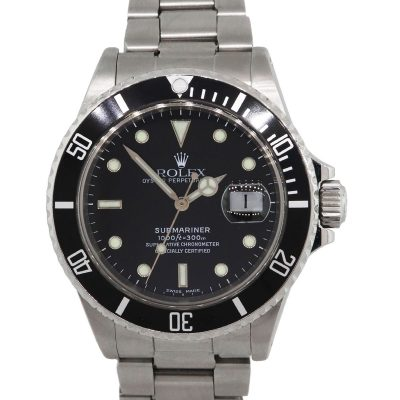 Rolex 16800 Submariner Black Dial and Bezel Stainless Steel Watch