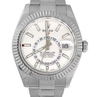 Rolex 72220 Sky-Dweller Stainless Steel White Dial Watch