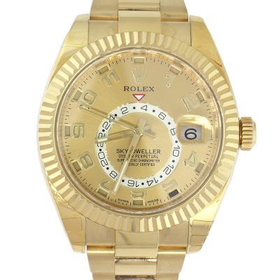 Rolex 326938 Sky-Dweller 18k Yellow Gold champagne Dial Watch