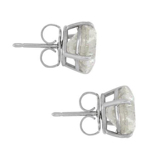 14k White Gold 15.17ctw Round Cut Diamond Earring Studs