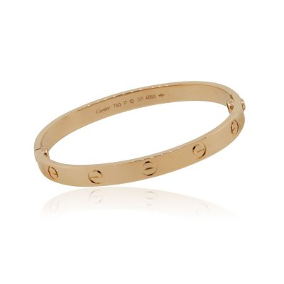 Cartier 18k Rose Gold Size 17 Love Bangle