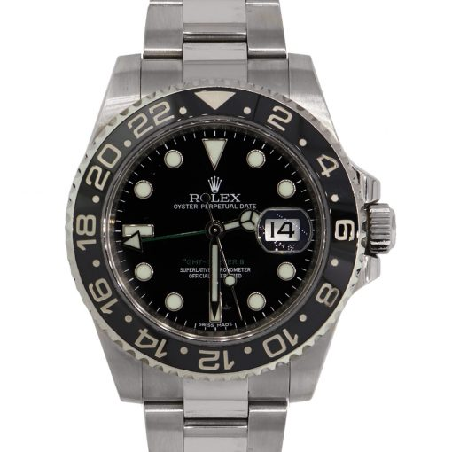 Rolex 116710 Master GMT II Ceramic Bezel Stainless Steel Watch