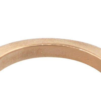 14k Rose Gold 1ct Pear Shaped Diamond Halo Engagement Ring