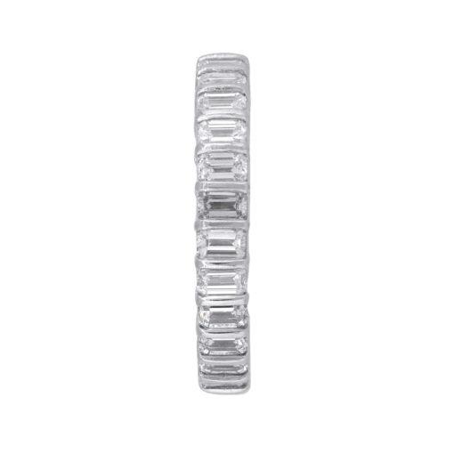 Platinum 2.90ctw Baguette Cut Diamond Eternity Band