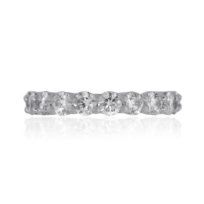 Platinum 2ctw Round Diamond Eternity Band Ring