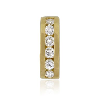 18k Yellow Gold 0.20ctw Round Diamond Slide For Bracelet