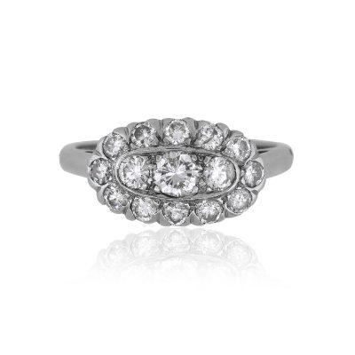 14k White Gold 0.50ctw Round Diamond Ladies Ring