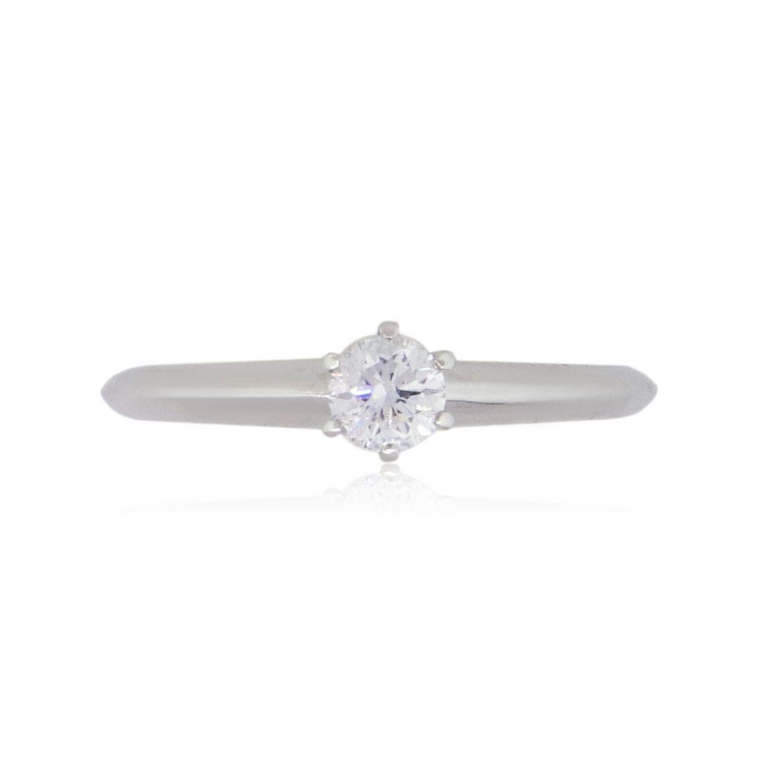 Tiffany & Co. Platinum 2ct Cushion Cut Moissanite Engagement Ring