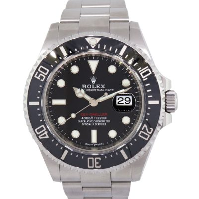 Rolex 126600 Sea-Dweller Black Dial Black Ceramic Bezel Stainless Steel Watch
