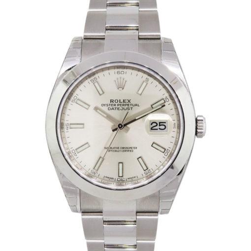 Rolex 126300 Datejust Stainless Steel Silver Dial Wrist Watch