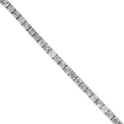 14k White Gold 21.08ctw Round Diamond Tennis Bracelet