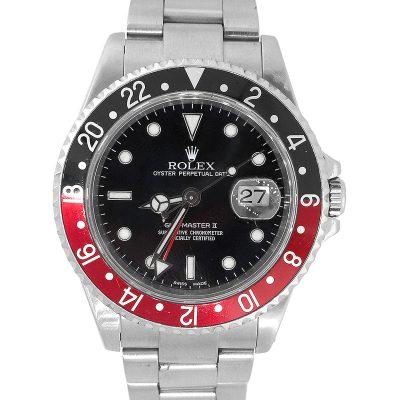 """Rolex 16710 GMT-Master II """"Coke"""" Stainless Steel Watch"""