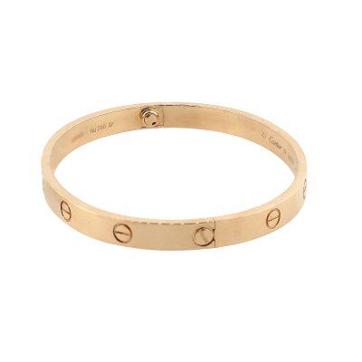 Cartier 18k Rose Gold New Style Love Bangle Bracelet