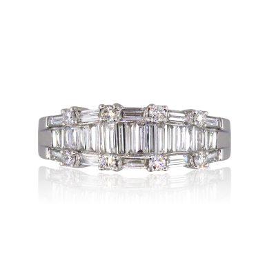 18k White Gold 1.03ctw Diamond Wedding Band