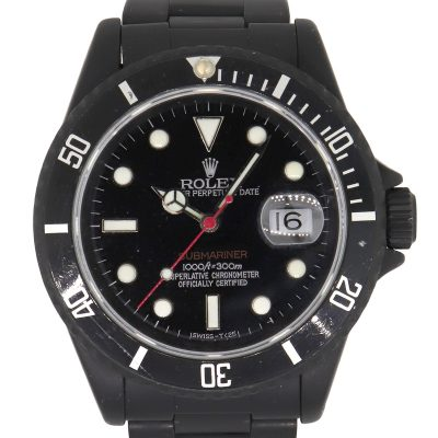 Rolex 16610 Stainless Steel PVD All Black Submariner Watch