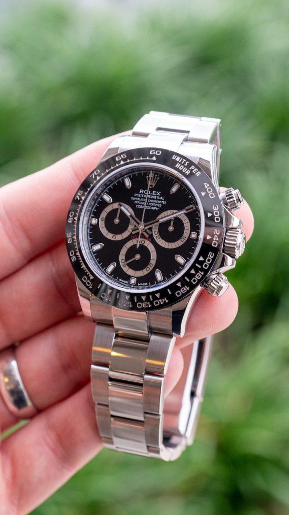 white or black dial Rolex Daytona