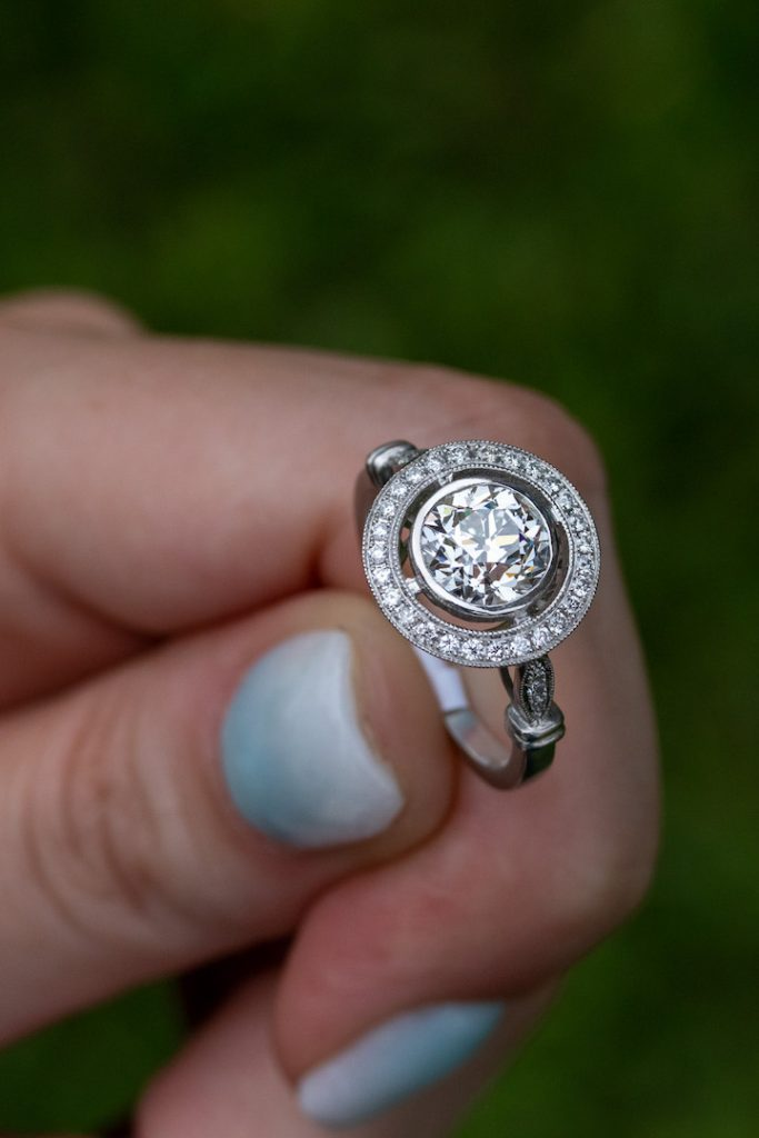 second hand or new engagement ring