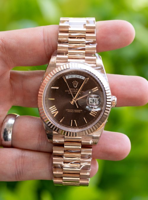 Review: New Day-Date 40 Rolex President in Everose Gold with Chocolate Dial