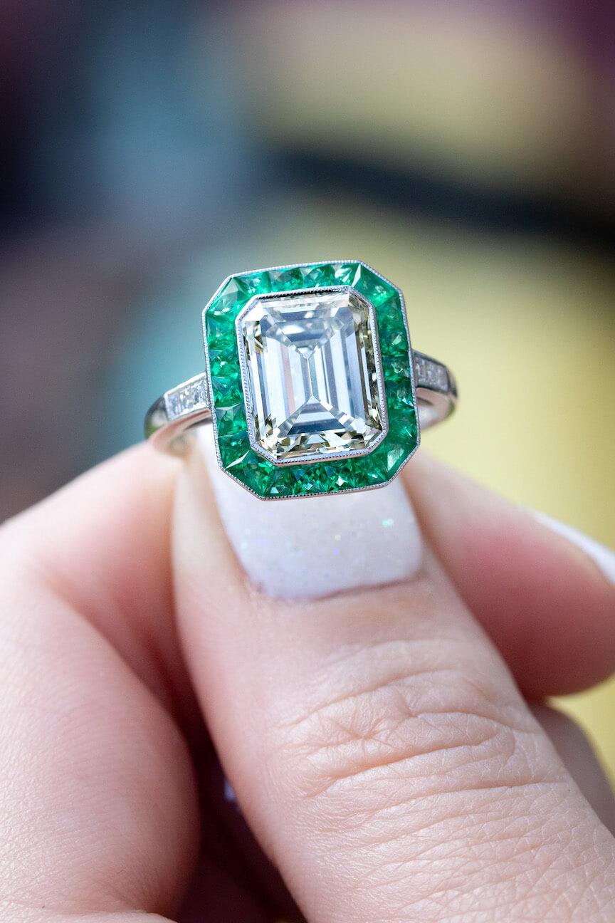 gemstone engagement ring settings