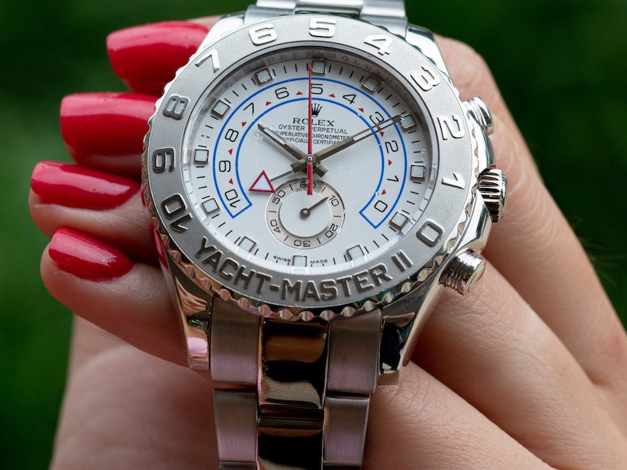 The Rare and Collectible White Gold & Platinum Rolex Yacht Master II