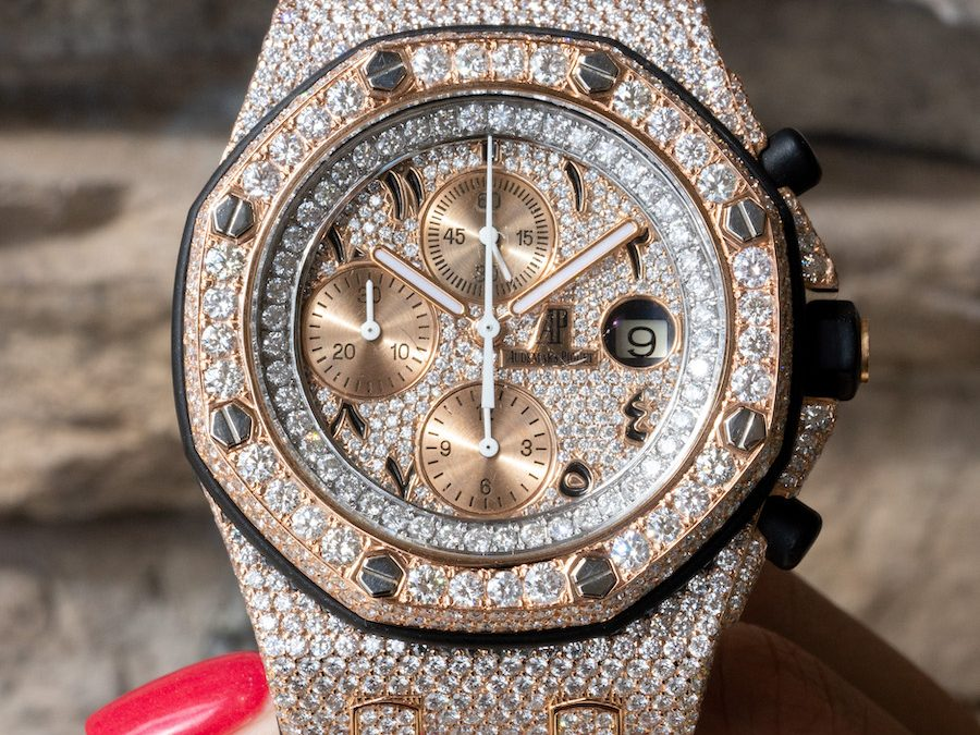 Want this Super Foreign Diamond Flooded AP Royal Oak Offshore 25940?