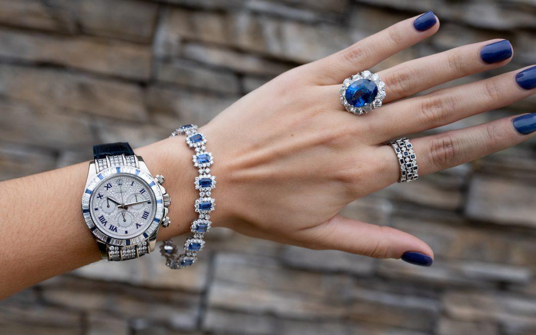 4 Majestic Matching Rolex Watches & Gemstone Jewelry Sets