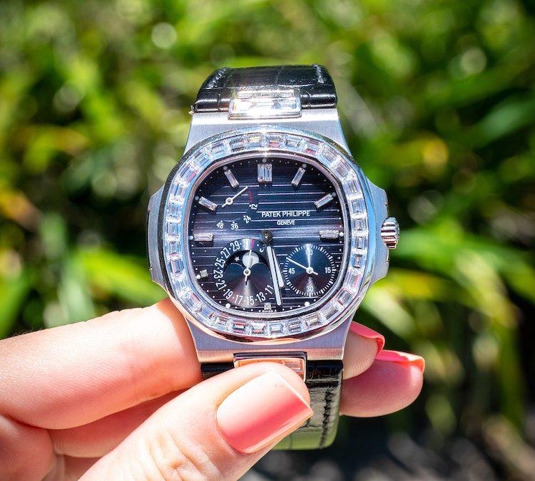 Review: One-of-a-Kind Baguette Diamond Patek Philippe Nautilus 5712G