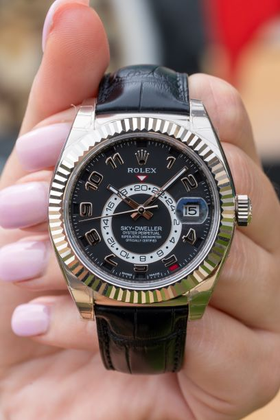 IDEAL LUXURY WATCH FOR TRAVELERS: ROLEX SKY DWELLER OYSTER PERPETUAL